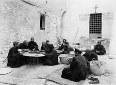 02_Suez - St. Anthony Monastery - Monks Sorting Grapes to Make Raisins 1930's (usbpanasonic) Tags: redsea muslim islam egypt culture nile monastery nil sinai egypte islamic copts  moslem suez egyptians stanthonys egyptiens