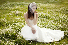 Meg (joelle.grace.) Tags: flowers white beauty field bride pretty veil dress natural bridal