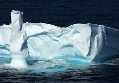 Icy Tower (Karen_Chappell) Tags: ocean blue sea white seascape canada ice newfoundland atlantic iceberg nfld eastcoast flatrock atlanticcanada eastcoasttrail avalonpeninsula