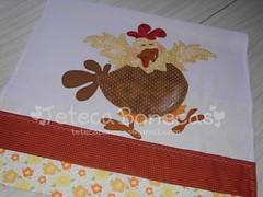 Pano de prato -Galinha Feliz (Teteca Bonecas) Tags: copa cozinha panosdeprato panodeprato panodecopa panosdecopa