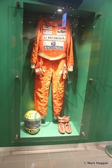 Ayrton Senna's race suit at The Macau Grand Prix museum (MarkHaggan) Tags: china museum helmet grand grandprix prix overalls 1983 f3 macau senna motorracing motorsport ayrtonsenna formula3 formulathree macaugrandprix racesuit 1983macaugrandprix