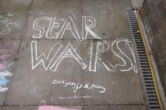 Pavement Art (tea3man) Tags: children star chalk pavement alien ufo wars