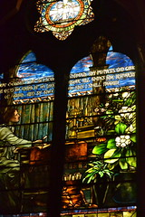 Tiffany Glass at historic church in Boston (KsCattails) Tags: windows church boston ma interior mother stainedglass landmark historic tiffany staugustine churchofthecovenant