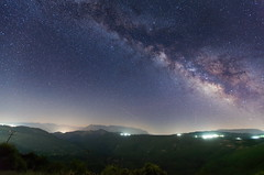 cloudless night (ChrisBrn) Tags: mountains night forest stars landscape greece milkyway