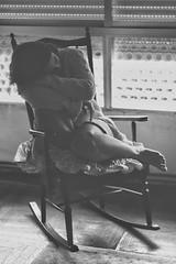 Marta C. 5.0. // 06 (Lt. Sweeney) Tags: contraste gente interior sinflash sin color luznatural luzambiental gris escaladegrises procesado edicin edition bn bw blanco negro blancoynegro biancoenero blancetnoir blackandwhite monochrome monocromo monocromtico encuadre frame framing mood clich ambiente soledad tristeza mecedora photo vertical encuadrevertical photograph sesinfotogrfica sesin fotografa foto canon