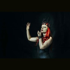 Queen photoshot #queen #of #darkness #redhair #redhead #redlips #powerful #black #magic #magickingdom #my #style #takepart #init #professional #photoshoot #model #crown #photography #photoart #differentart #best #photographer Crown by @Tears_ofRose_ (Magick_Studio) Tags: photo instagram fashion glamour steampunk gothic photography slow motion architecture