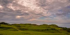 View from Glengorm Castle, Isle of Mull, Scotland (vonHabsburg) Tags: scotland schottland sun sonne abendrot redsky landschaft landscape clouds wolken sky himmel grn green grass gras isleofmull mull glengromcastle glengorm sea meer ozean ocean