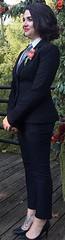 Kat (bof352000) Tags: woman tie necktie suit shirt fashion businesswoman elegance class strict femme cravate costume chemise mode affaire