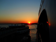 Bosphorus sunset (Bkutlak H.D) Tags: bosphorus ship sunset sea sky sun silhouette shadows shadow skie water istanbul composition color city flickr fantastic photographer photography photosick people point