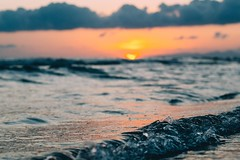 The wave (mougrapher) Tags: ifttt 500px wave sea seascape beach water sunset ocean sky clouds sun blue summer waves light rocks travel beautiful vsco mare tramonto sole nuvole onde italy