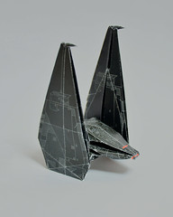 Upsilon Shuttle (Karol Kafarski) Tags: star wars space kafarski karol paper origami force awakens empire imperial spaceship