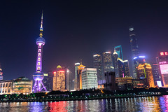 Skyline (stevenp74) Tags: night shanghai china architecture buildings light lights river water reflection sky sony a7 28mmf2 28mm f2 skyline bund pudong cityscape