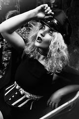 'Military Glam.' (Laura Jane Harding) Tags: black white fashion military glam glamour hat waspie corset wheelbarrow light emotion expression fine art conceptual