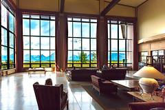 Jackson Lake Lodge (gunigantip) Tags: moran wyoming unitedstates gtnp grandtetonnationalpark grandtetons tetons nationalpark jacksonlakelodge lobby windows lodge indoor gigantic scenic