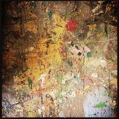 Paint splattered table (breakbeat) Tags: hipstamatic oxford instameet instagrammeetup photowalk city hipstamaticapp anniesloan shop cowleyroad painteverything colourful interiordesign texture paint splattered table splodge drips