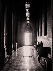 into_the_light (gerhil) Tags: architecture interior church travel landmark historic hall long dark backlit empty mystery life death religion faith hope love monochrome eerie autumn november2016 niksilverefexpro2 column 1001nights
