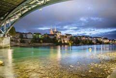 Basel by night 1 (Christine Seiler Photography) Tags: mnster cathedral basel longexposure langzeitbelichtung bale rhine river switzerland schweiz nachtaufnahme