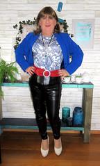Blue Jacket (Trixy Deans) Tags: crossdresser cd cute crossdressing crossdress classy corset jeans tightjeans tgirl tv transvestite transgendered transsexual trixydeans transvesite tgirls trixy xdresser sexy sexytransvestite sexyheels sexylegs hot highheels