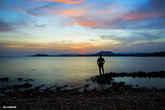 self-portrait (jopas2800) Tags: sunset calm sea landscape selfportrait mediterrneo clouds nikon d610 2485
