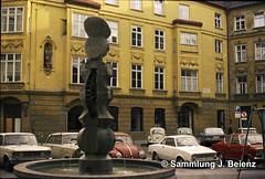 1970 Brunnen am U-Bahn-Referat Hackenstrasse Mnchen 02 copy (Pacific11) Tags: mnchen munich 1970 1971 vintage alt selten bilder bayern ubahn baureferat hackenstrasse brunnen