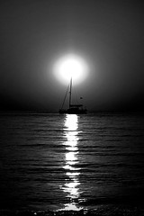 Sunset Ship (northernshy) Tags: sunset sail ocean blackandwhite