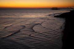 Setting Sun (4foot2) Tags: settingsun brighton pier westpier palacepier brightonpier sunset dark seafront seaside seawater sea darksea evening winter cold water waves canon5d eos5d 5d helios helios44m 44m fourfoottwo 2016 4foot2flickr 4foot2photostream 4foot2