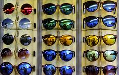 Cheap sunglasses (Gianna Fou.) Tags: glass sunglasses colours colourfull