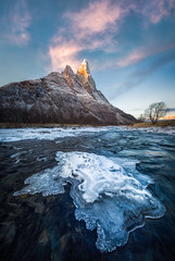 Arctic Alpenglow (hpd-fotografy) Tags: arctic norway scandinavia senja sunrise bluehour clouds cold dramatic ice light mountain north river sky snow sunset weather wideangle winter
