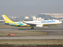 Cebu Pacific Air. NEW LIVERY FOR THE COMPANY. (Jacques PANAS) Tags: cebu pacific air airbus a330343 rpc3347 fwwyx msn1712