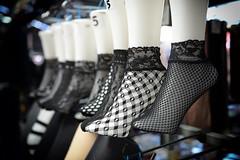 Putting your best foot forward (PhotosbyDi) Tags: stockings feet blur bokeh black footwear nikond600 nikonf282470mmlens hosiery fishnet vicmarket queenvictoriamarket
