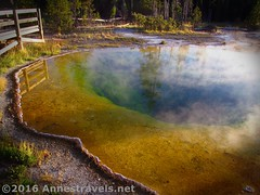 Morning Glory Pool (Annes Travels) Tags: yellowstone wyoming uppergeyserbasin geysers geothermal