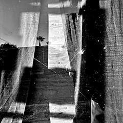 Just another secret about a secret (Dom Guillochon) Tags: urban life time curtains humans secrets existence reality dream noiretblanc
