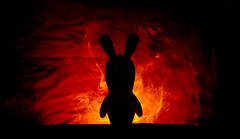 On its way to conquer the world (VB32photo) Tags: vb32photo flickrfriday silhouette raving rabbids rabbid rabbit rabbits lapin crtin back ligth backlight backlit smoke contre jour contrejour fume bwah bwaaah bwaah