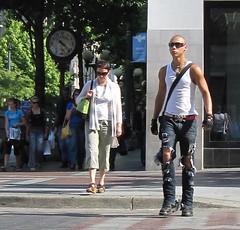 rips (D G H) Tags: dgh daveheston downtown seattle streetphotography city candid rippedjeans male masculine belt beltbuckleskullskull crossbones sunglasses gloves