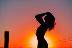 Sunset Beauty (Ian McGregor Photography) Tags: canada hayleel ianmcgregor nikon photography prairie saskatchewan sunset wascanavalley barbed beautiful beauty body female fence ianmcgregorphotographycom model shape silhouette wire woman