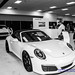 B&W of a Slice of the @Porsche Display at Seattle Auto Show