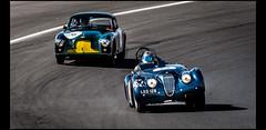 Jaguar XK 120 (1952) & Aston Martin DB2/4 (1954) (Laurent DUCHENE) Tags: peterauto lemansclassic 2016 bugatti jaguar xk 120 xk120 aston martin db24