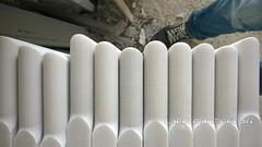 davanzali con costa a toro in marmo bianco carrara