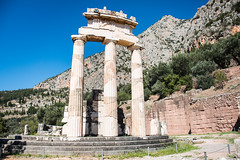 Delphi - Tholos of Temple of Athena Pronaea Rebuilt Columns (Le Monde1) Tags: greece delphi greek sanctuary athena lemonde1 nikon d800e unesco worldheritagesite archaeological site roman ruins gods tholos templeofathena pronaea fluted columns