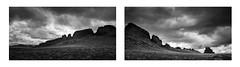 Shiprock Dike Diptych (Sandra Herber) Tags: shiprock lava dike newmexico infrared