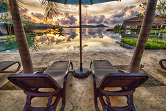 IMG_9802 ~ enjoying the sunrise (alongbc) Tags: swimmingpool pool langkawi kedah malaysia travel places trip sunrise canon eos700d canoneos700d canonlens 10mm18mm wideangle clouds sky dayangbayserviceapartmentsandsuites