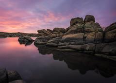 Watson-Lake-6944-HDR (Michael-Wilson) Tags: michaelwilson watsonlake prescott arizona sunrise sunset sky clouds pink reflection lake granite