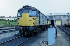 BRITISH RAIL 26008 (bobbyblack51) Tags: british railways class 26 brcw type 2 sulzer crompton parkinson bobo diesel locomotive 26008 eastfield depot 1992