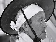 Seoul, South Korea (Robert Borden) Tags: fotostationtps bw asia southkorea seoul parade man grandfather portrait people