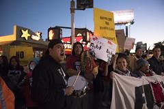Fight for $15 demonstrations in Las Vegas, night (FreezeTimeDigital) Tags: lasvegas nv usa fightfor15 protest demonstration fastfood minimumwage photojournalism mcdonalds carlsjr