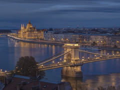 Budapest, Hungary (Wizard CG) Tags: budapest chain bridge hungary long exposure hdr skyline road sky architecture city epl7 ngc world trekker water night outdoor parliament danube unesco heritage list waterfront river landscape building infrastructure structure ed