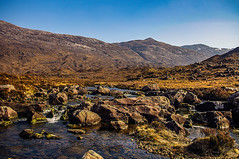 Wet Feet Photography (Brian Travelling) Tags: highlands highland stream water landscape land torridon mountains mountain wetfeet photography rocks hills rugged scotland scenery scenic scottish scots bluesky colours coloursofscotland exploration explore falls peaceful geology light glen moor nature natural naturalworld outdoor outdoors outside pentaxkr pentax pentaxdal panoramic peace peaks river rock rocky rural sky serene serenity setting desolate stone tranquil terrain emotive