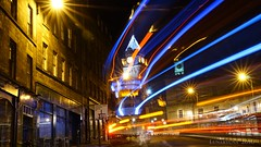 nightbus through Edinburgh (lunaryuna) Tags: scotland capital edinburgh urban city walk walkinthecity night nightlights nightbus nightphotography nocturnalphotography citylights lighttrails le longexposure nightlife lunaryuna thebalmoralhotel