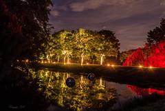 DSC_3761-ab (gabrieleskwar) Tags: schloss wasserschloss dyck spaziergang leuchten lichter park abends beleuchtung niederrhein outdoor