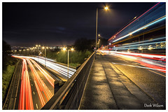 Lights, Lights and more Lights (D.K.o.w) Tags: belfast lighttrails motorway m2 antrimroad bridge red white northernireland longexposure canon7dmii cavehill sigma 1020 wide angle